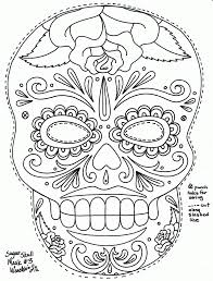 detailed coloring pages for adults skull kids coloring