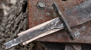 backyard blacksmith forges viking sword from vehicle parts make