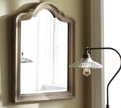 Pottery Barn Mirrors Bathroom by Germain Arched Mirror Pottery Barn Powder Room Via Coyote