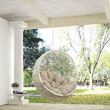 amazon com modway hide outdoor patio swing chair without stand