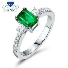 weddingrings direct emerald diamond 14k white solid gold wedding rings direct