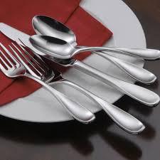oneida voss 65 piece casual flatware set service for 12 extra