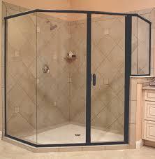 crystalline hinge shower door semi frameless