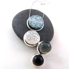 Shades Of Gray Shades Of Gray Ombre Cascade Necklace U2013 Glass Elements