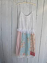 Womens Shabby Chic Clothing by Womens Patchwork Dress Upcycled Clothing Shabby Chic Clothing