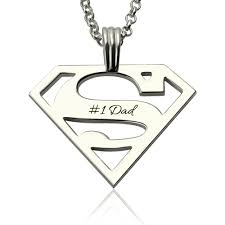 personalized necklace for sterling silver men s superman necklace