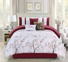 Bed In A Bag Duvet Cover Sets by Piece Akira Burgundy White Bed In A Bag Set