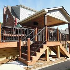 Covered Deck Ideas 130 Best Deck Steps Porch Steps And Other Ideas For Outdoor