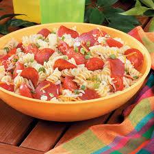 Cold Pasta Salad Dressing Pizza Pasta Salad Recipe Taste Of Home
