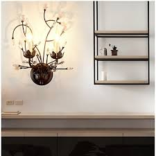 Wall Sconce Uplight Ac 220 240 10 E14 Traditional Classic Painting Feature For Crystal