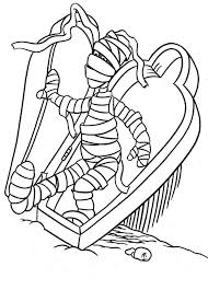 really scary mummy colouring page fun colouring