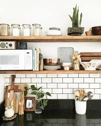 tablette cuisine rangements ouverts dans la cuisine 10 façons de les adopter