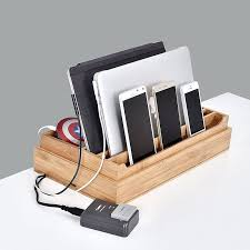 diy charging dock charging station organizer 3 piece friendly bamboo multi device