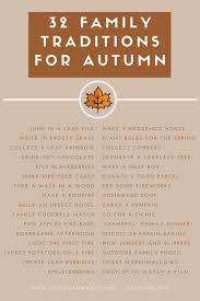 32 autumn family traditions printable what s your favourite fall