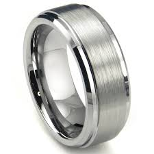 men s wedding band 8mm high matte finish men s tungsten ring wedding band