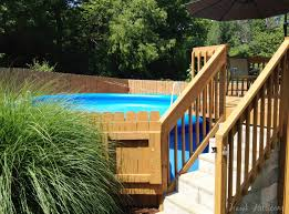 pool ideas on pinterest above ground decks and swimming pools