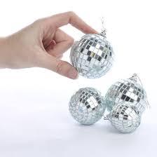 assorted silver disco ornaments ornaments
