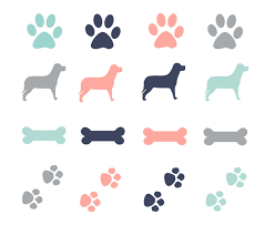 clipart dog paw prints border clip art library