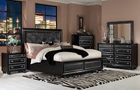 onyx island 6 pc cal king bedroom set faux leather bedroom