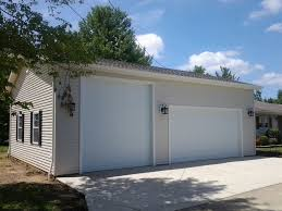 modern garage builders 3 car custom reverse gable