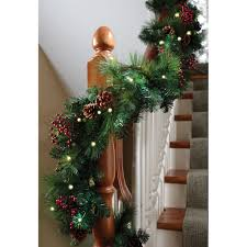 the cordless prelit shaped garland hammacher schlemmer