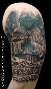 30 praying angel tattoo on half sleeve golfian com