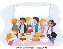 vector illustration of family gathering illustration of a family
