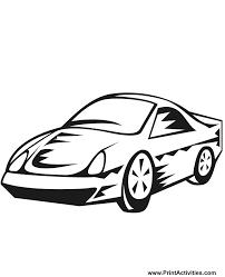 car coloring cartoonish sports car