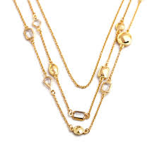 brand gold necklace images Brand gold preppy 3 triple layers stella haley n387g 2015 necklace jpg