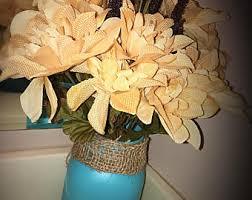 Mason Jar Flower Centerpieces Mason Jar Flower Arrangement Etsy