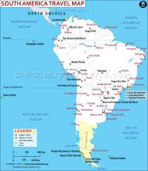 South America Map Capitals by North America Travel Information Places To Visit Map Major Cities