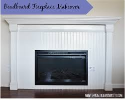 snugglebug university beadboard fireplace makeover my next