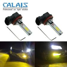 nissan versa yellow fog lights amazon com calais extremely bright cob chips h11 30w led fog