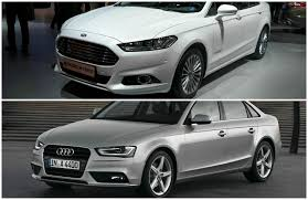 audi a4 comparison comparison 2015 ford mondeo vs audi a4 sedan autoevolution
