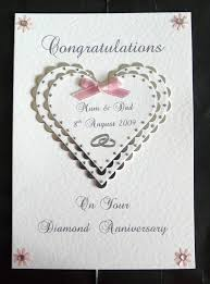 60th wedding anniversary greetings personalised diamond 60th wedding anniversary card 60th wedding