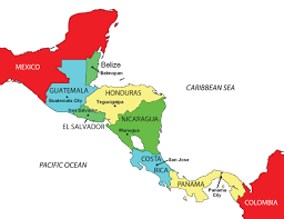 Caribbean Map With Capitals by Middle America