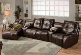 Curved Sectional Sofa With Recliner Leather Sectional Sofa With Recliner And Chaise 1025theparty