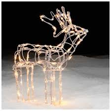 lighted white wire standing deer decor shines at kmart