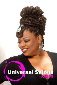 universal hairstyles black hair up do s natural locs updo from tenene jackson