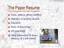 Position Desired Resume Communicating For Results Seventh Edition Cheryl Hamilton Ph D