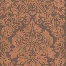 copper metallic wallpaper copper damask wallpaper gloriana