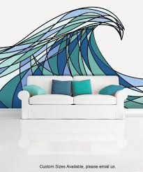 ocean wave wall sticker huge surf ocean wave swirl art vintage wall mural decal sticker decani ocean wave color mcrespo130
