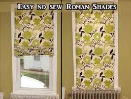 Easy No Sew Curtains No Sew Roman Shades