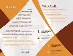 hotel brochure template trifolded creative multipurpose brochure