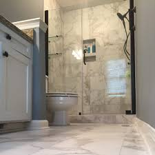 marble bathroom tile ideas bathroom remodel with faux marble tile it39s porcelain black and