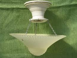antique porcelain light fixture antique porcelain ceiling light fixture w old pattern glass dome shade