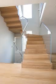 floating staircase glass railings in juno beach bella stairs