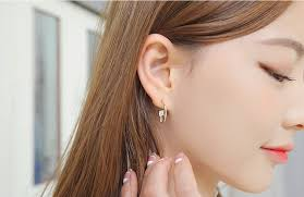 earing model fashion women silver plated earring for girl knotted lovely