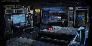 spaceship bedroom potemkin captain s quarters by ionen on deviantart