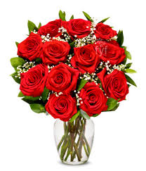 flowers roses one dozen stemmed roses at from you flowers